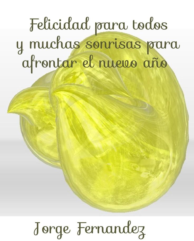 Jorge Fernandez: felicidad para todos y muchas sonrisas para afrontar el nuevo año