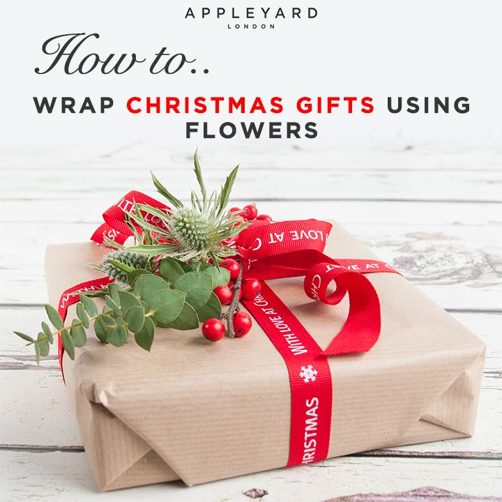 Unfold the secrets to wrapping your Christmas gifts, incorporating flowers.