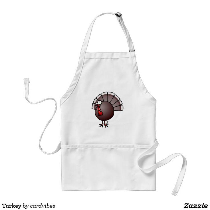 Turkey apron #Zazzle #Cardvibes #Tekenaartje #NEW