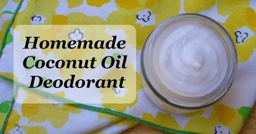 Uses of coconut oil as a deodorant ingredient