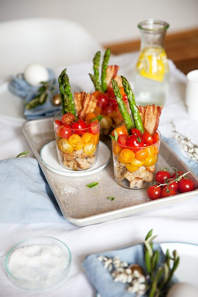 Bruschetta im Glas / Asparagus/ breakfast / brunch ideas / eastern