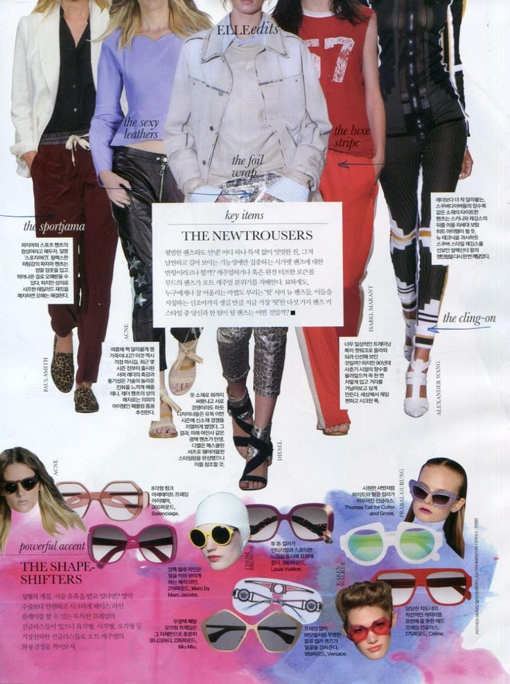 Thomas Tait for Cutler and Gross Sadzies frames in ELLE Magazine KOREA @ELLEmagazine @Tait Thomas