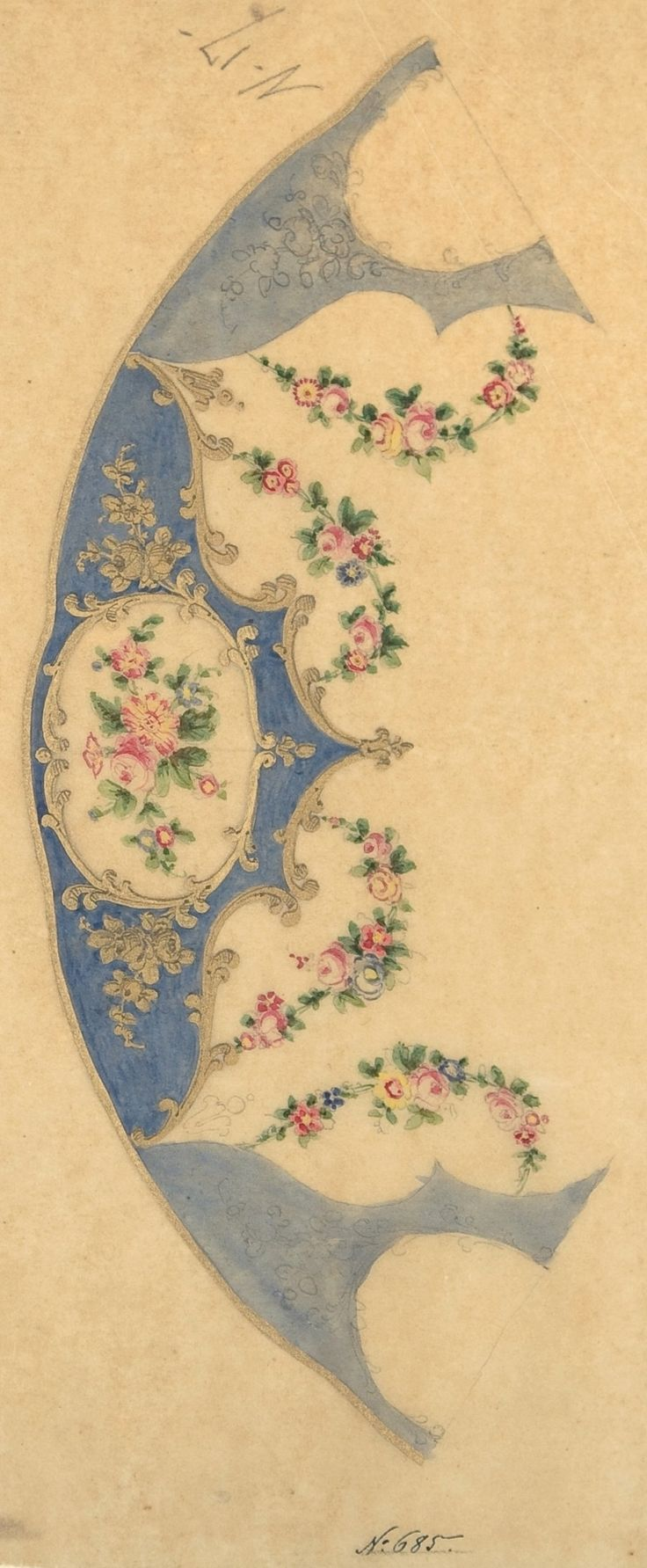 Plate Border, French//Filigree