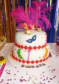 Resultado de imagen para torta con adornos de carnaval