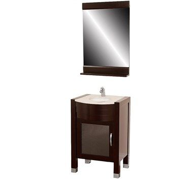 "Daytona 24"" Bathroom Vanity with Mirror - Espresso"