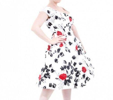 1 igjen- Kjole med roser