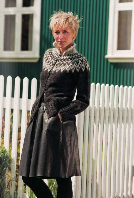 Love this lopi sweater...zipped and teamed with a skirt.  Going hunting for my handmade 1980's one.  Good memories
