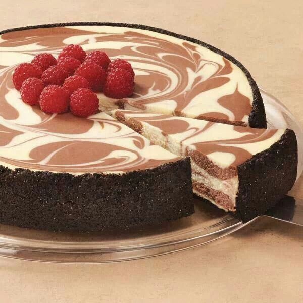 Marbled cheesecake | Desserts - Cheesecakes ONLY | Pinterest