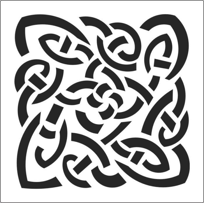 Celtic border stencil