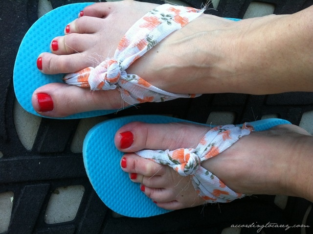 DIY-Knotted Flip Flops   accordingtocarey.com