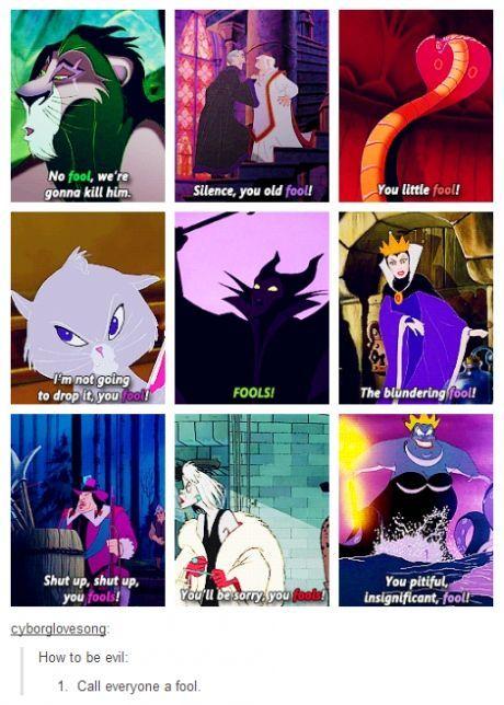 How to be a disney villain