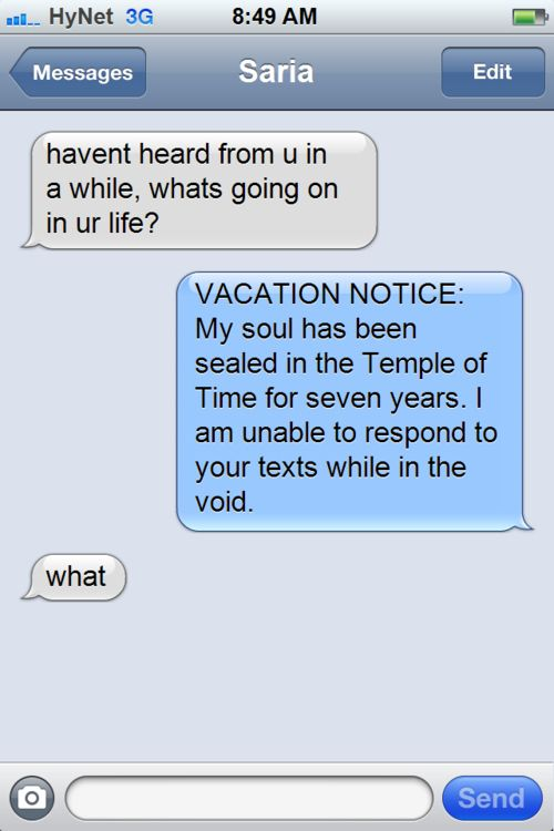 Texts From Zelda Is The Best Tumblr About Text Messages From Zelda Ever