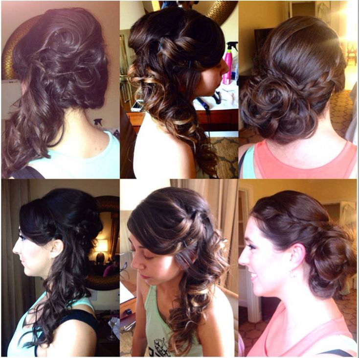 where to get makeup done for wedding bridesmaid hairs updo half up do braid wowpretty 1282