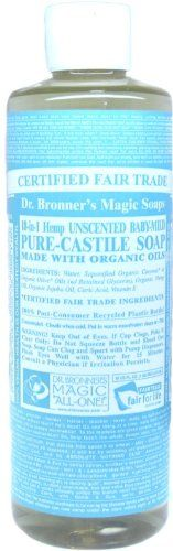 Dr Bronners Liquid Soap Castle Baby Unscented 16OZ *** Additional details at the pin image, click it  : Baby Skin Care