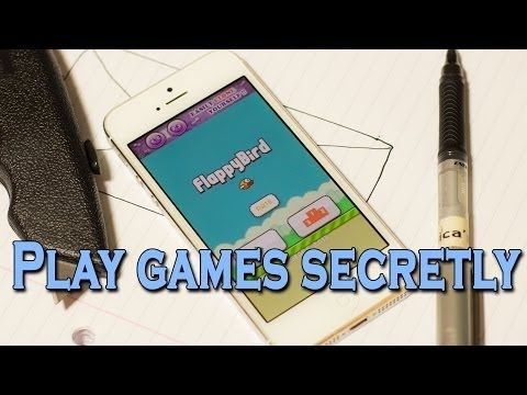 Not so much an invention, but a quick tutorial on how to secretly play games without teachers/bosses noticing!