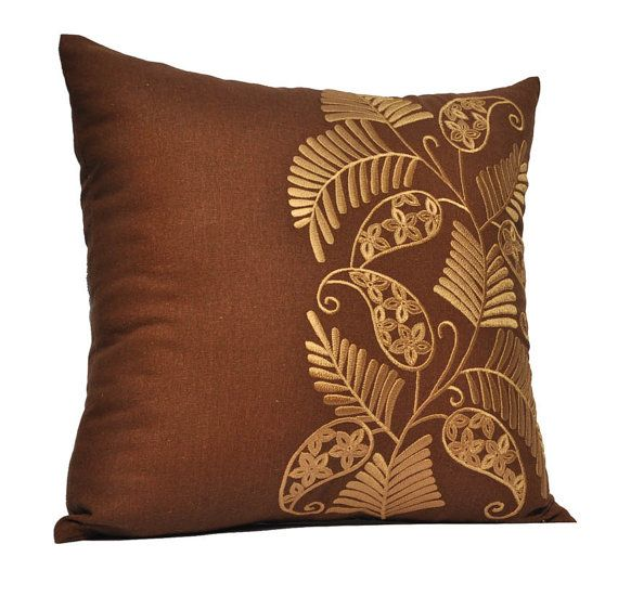 Gold Palm LeavesThrow Pillow Cover Decorative Pillow от KainKain