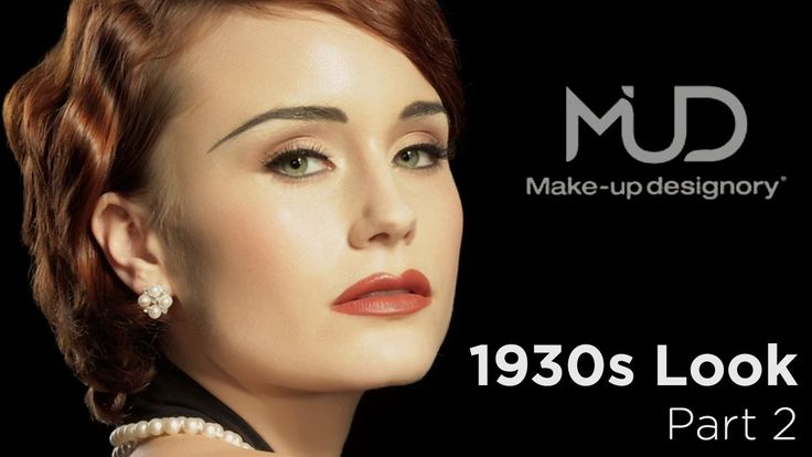 Continuing our vintage 1930's makeup tutorial, Make-Up Designory's Reiva Cruze creates a highlight under the brow using a #320 brush and Honeysuckle Eye Colo...
