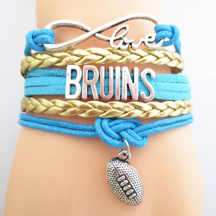 Infinity Love UCLA Bruins Football - Show off your teams colors! Cutest Love UCLA Bruins Bracelet on the Planet! Don't miss our Special Sales Event. Many teams available. www.DilyDalee.co