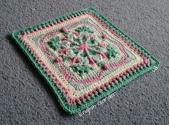 Ravelry: Project Gallery for English Garden Afghan Square pattern by Julie Yeager
