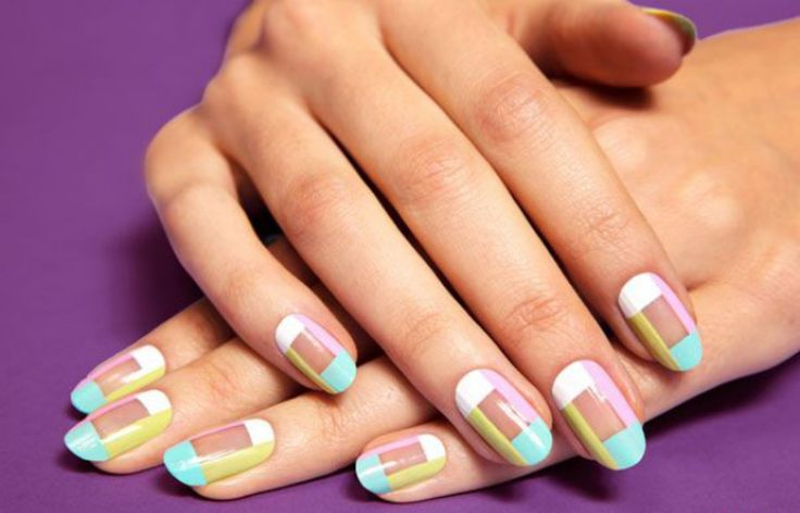 It's okay to be a little square. #NailInspiration from #PrettyDollfacedAZ