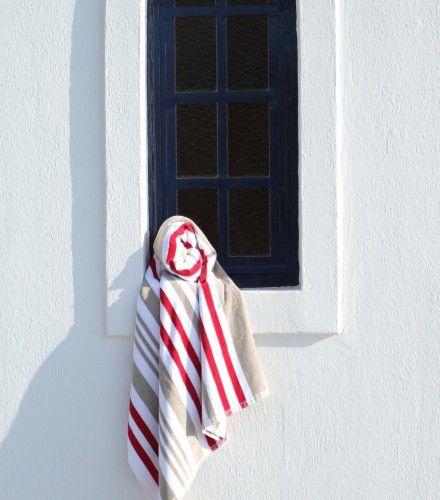 Πετσέτα Θαλάσσης Mykonos 86x160cm Ριγέ C - Πετσέτες Μπάνιου | Pennie® - pennie.gr