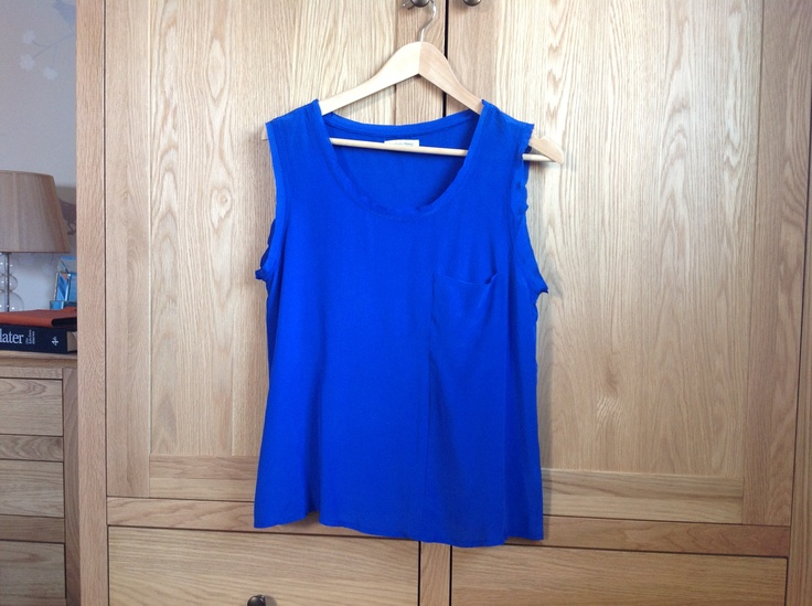Pure silk Helena blouse by Second Female Copenhagen in cobalt blue. Size L. Scoop neck and pocket at left breast. Bought in sale from Anna as has a slight mark on right shoulder (hardly visible). I can email more photos if interested. £15 incl postage. Never worn. Not my colour unfortunately.