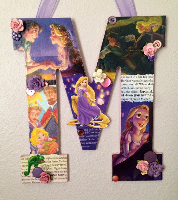 Any letter in Rapunzel from Tangled Disney by SpikaInteriors