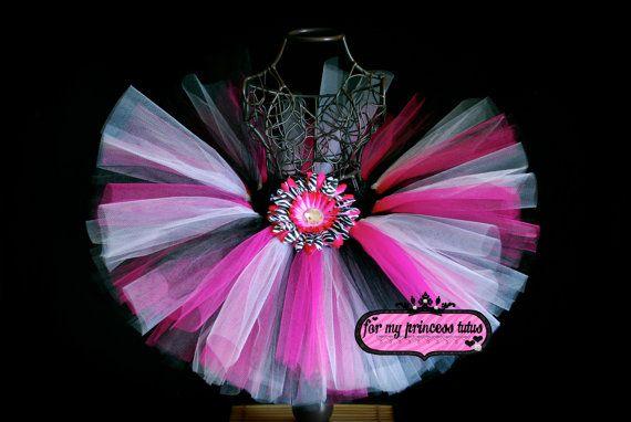 Hot Pink Zebra Tutu Skirt on Etsy, $17.50