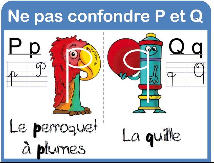 affichages français - la Fouine en clis confusion p / q