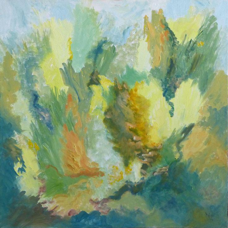 """""""Cedars of Green"""", Oil, 24"""" x 24"""", $300.00"""