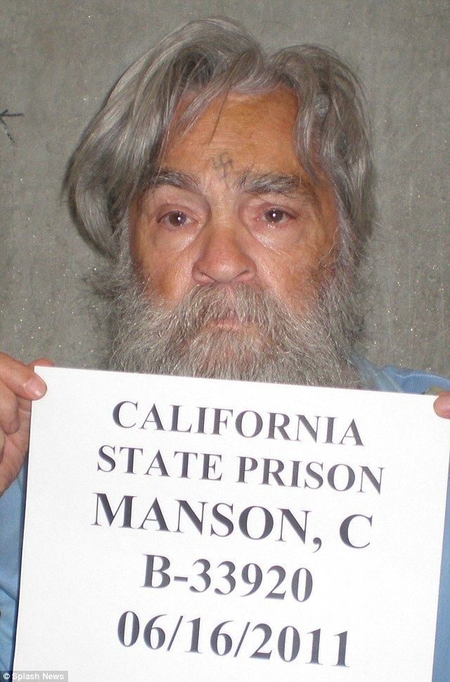Charlys getting old: Charles Manson pictured at 77 in newly released photo as he bids for parole for the 12th time