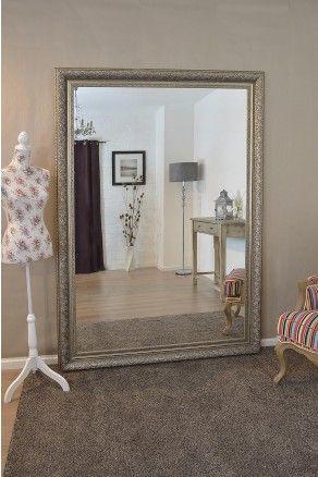 large silver ornate decorative big wall mirror 7ft x 5ft 208cm x 147cm mirror