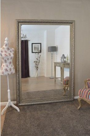 Large Silver Ornate Decorative Big Wall Mirror 7Ft X 5Ft (208cm X 147cm) MIrror Outlet - 01908 223 388