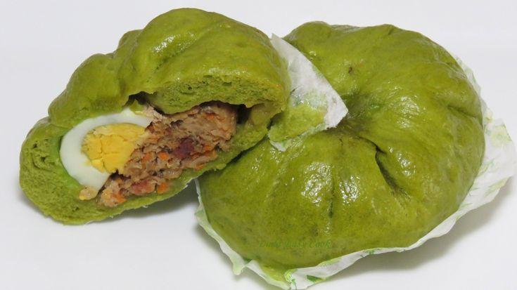 зеленые Вьетнамские Булочки на пару  Китайские паровые булочки видео рец...