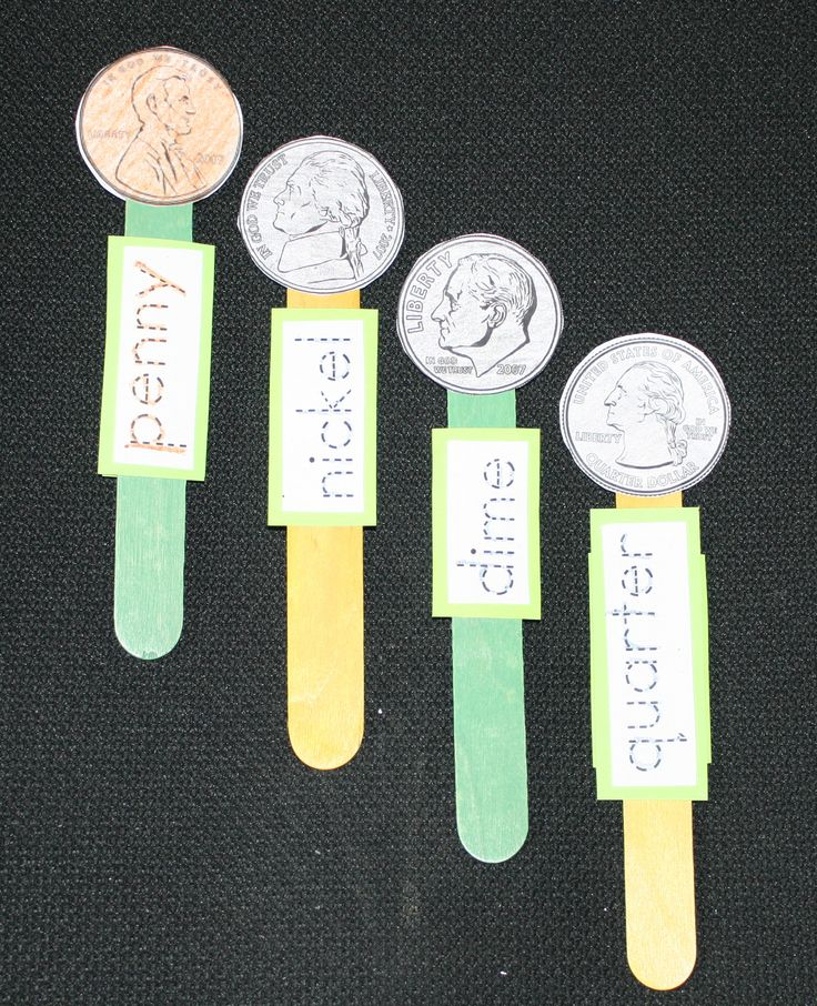 coin popsicle sticks