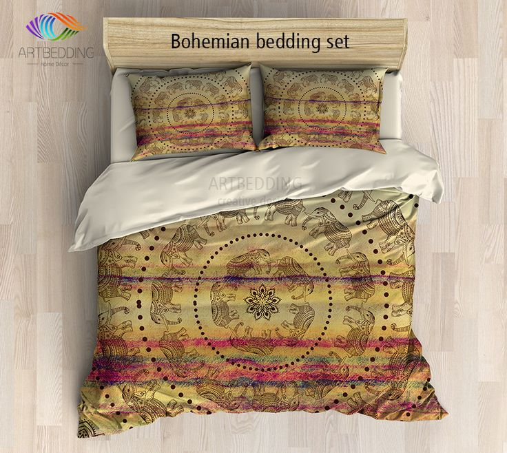Bohemian bedding, Boho Indie duvet cover set, mandala bedding set, boho bedspread