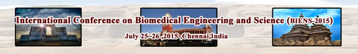 International Conference on Biomedical Engineering and Science (BIENS 2015) will provide an excellent international forum for sharing knowledge and results in theory, methodology and applications impacts and challenges of Biomedical Engineering and Science. http://iidco.org/2015/biens/index.html