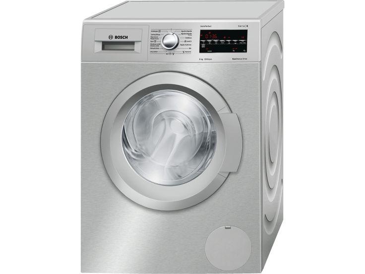 Compre a Máquina de Lavar Roupa BOSCH WAT2448XES em Inox, com capacidade de 8 Kg, classe energética A+++ e velocidade de centrifugação até 1200 rpm em Worten.pt