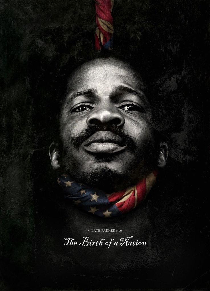 The Birth of a Nation Poster [Nat Turner on dark background with noose made of American Flag around his neck]