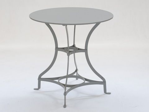 Conservatory Table with Metal Top in Painted Finish - Inside Out Home Boutique