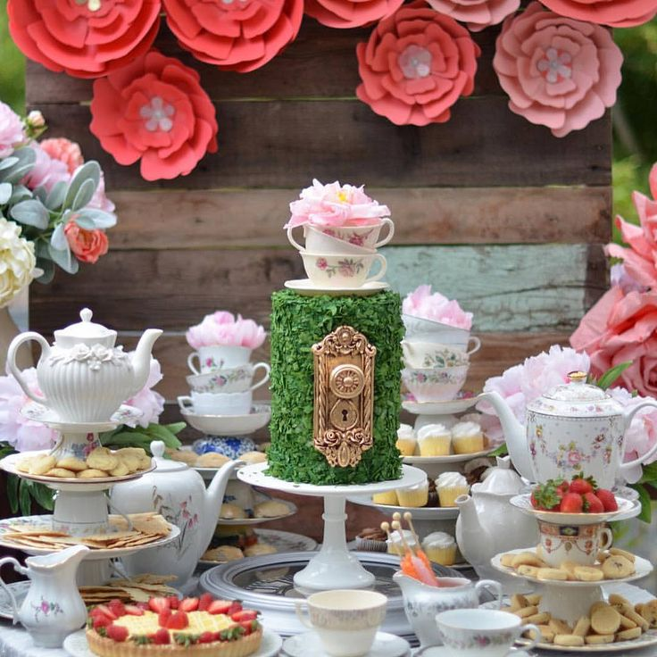 Alice in Wonderland Sweet Table