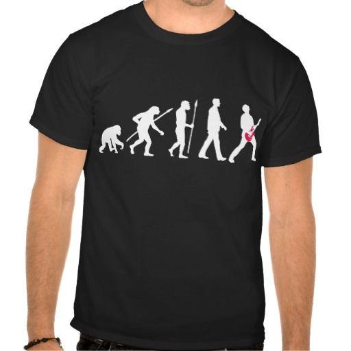 evolution e-guitar rock t shirt