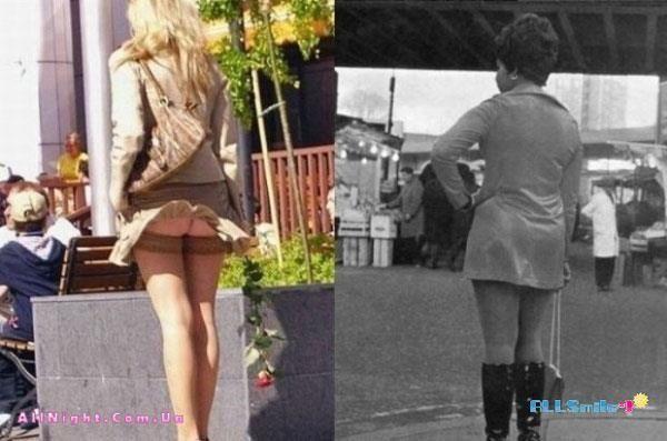 Супер мини юбка на улицах