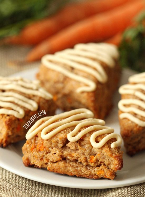 Carrot Cake Scones with Cream Cheese Frosting