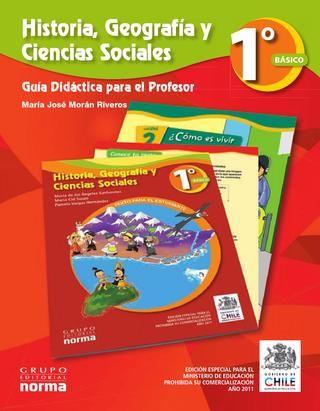 Ciencias Sociales 1º, básica, primaria. Libro del maestro.  Ciencias Sociales para primer grado de la escuela básica, primaria. Libros chilenos de distribución gratuita. DOCENTE.