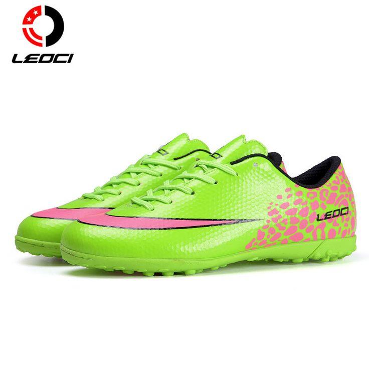 LEOCI Men's Boys Girls Football Shoes TF Tuif Soccer Boots Anti-Collision Safety Botas De Futbol For All Seasons Size 33-44 #Affiliate