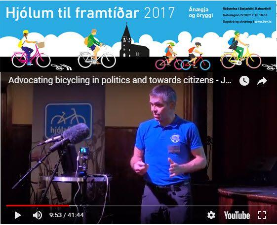 Var inviteret til Island for at holde indlæg på deres årlige cykel kongres. Til trods for dårlig vejr fik jeg cyklet en del.