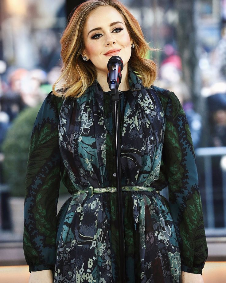 Wearing a Burberry dress and scarf, Adele performs 'Million Years Ago' live for the first time on The Today Show in New York