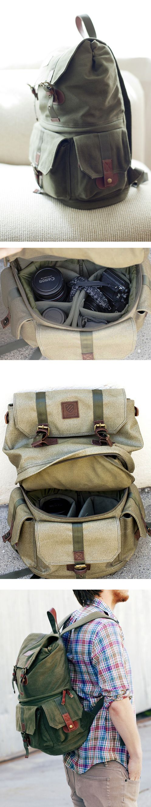 Camera Backpack by Langly. Perfect for photo adventures.