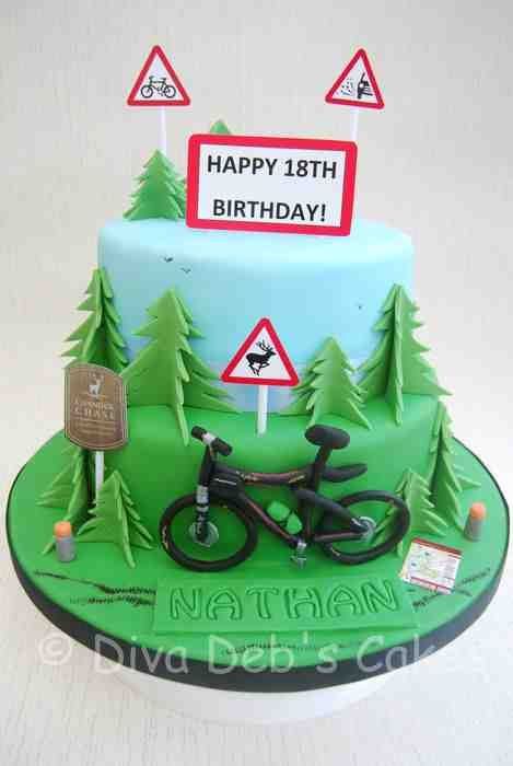 Mountain biking cake
